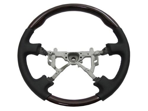 small resolution of crazythegod lx470 1998 2002 steering wheel oe dark walnut wood black leather for lexus