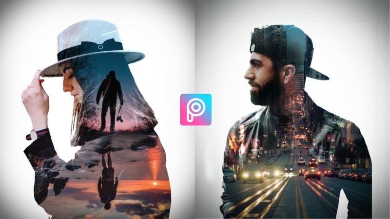 picsart tutorial double exposure effect