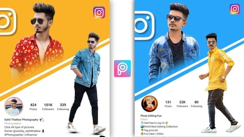 Instagram Creative Dual Photo Editing