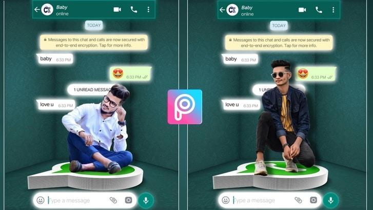 creative whatsapp photo editing
