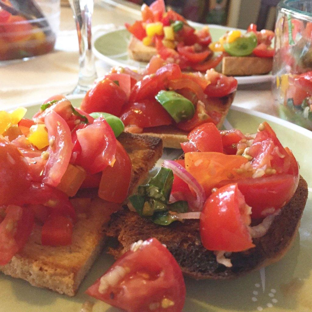 Balsamic heirloom tomatoes on gluten free toast