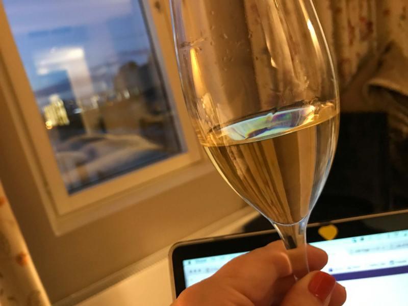 Champagne alone in Helsinki.