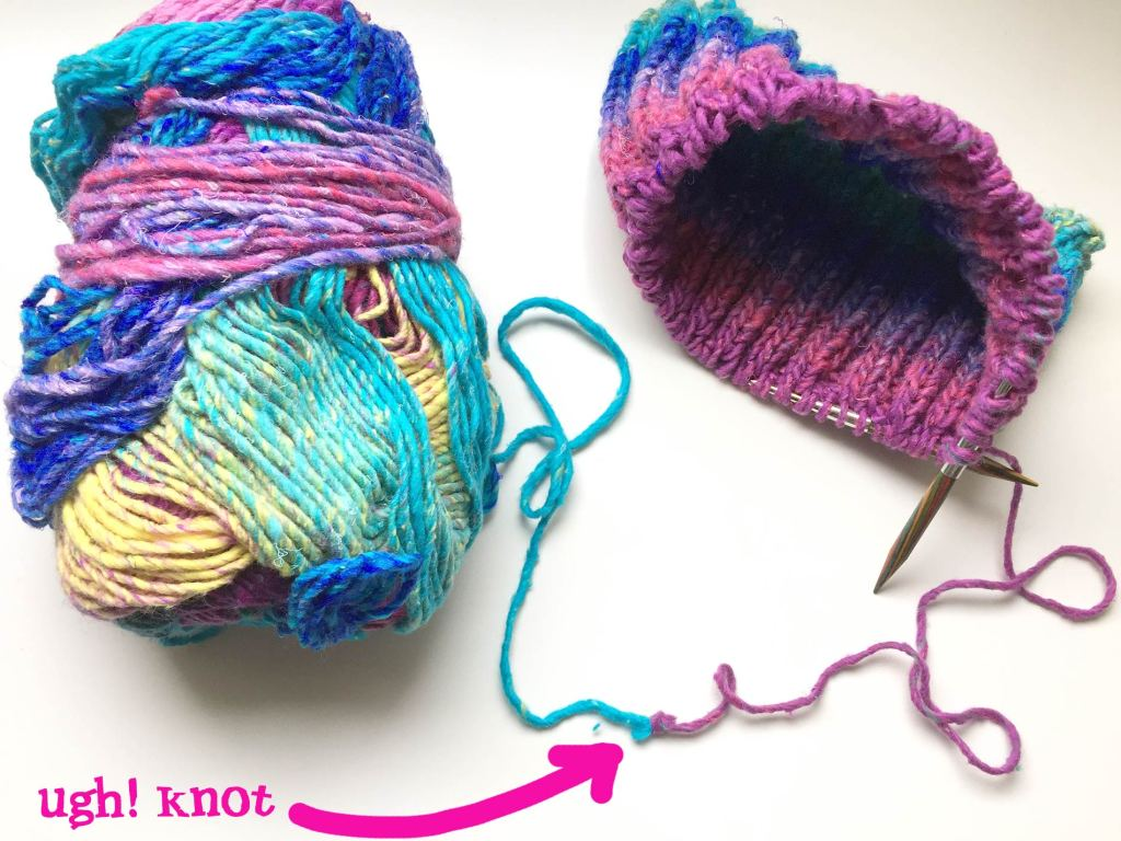 Knitting Tip - The felted join for wool (and wool blend yarns)