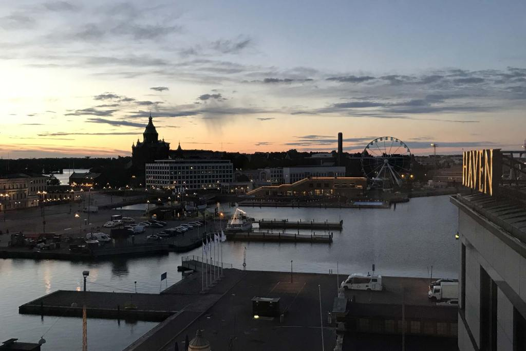 Helsinki Harbor at 2 am.