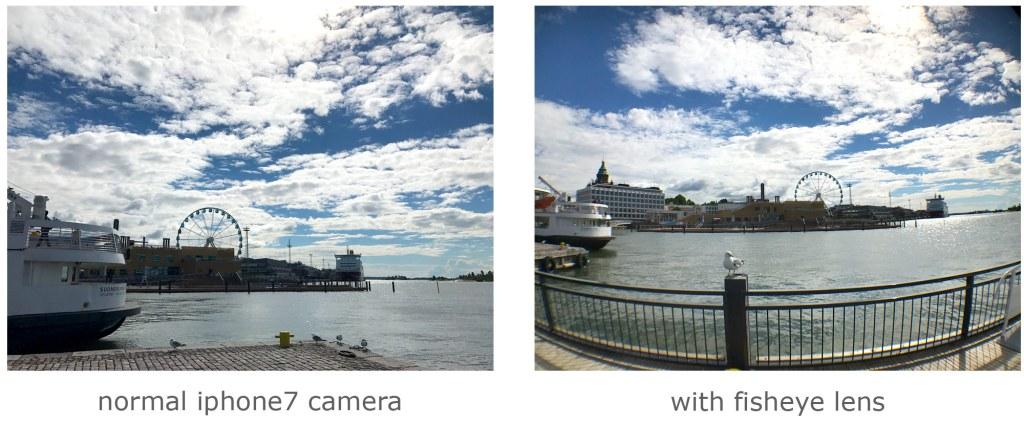 iPhone fisheye lens comparison