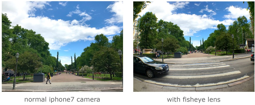 iPhone fisheye lens comparison