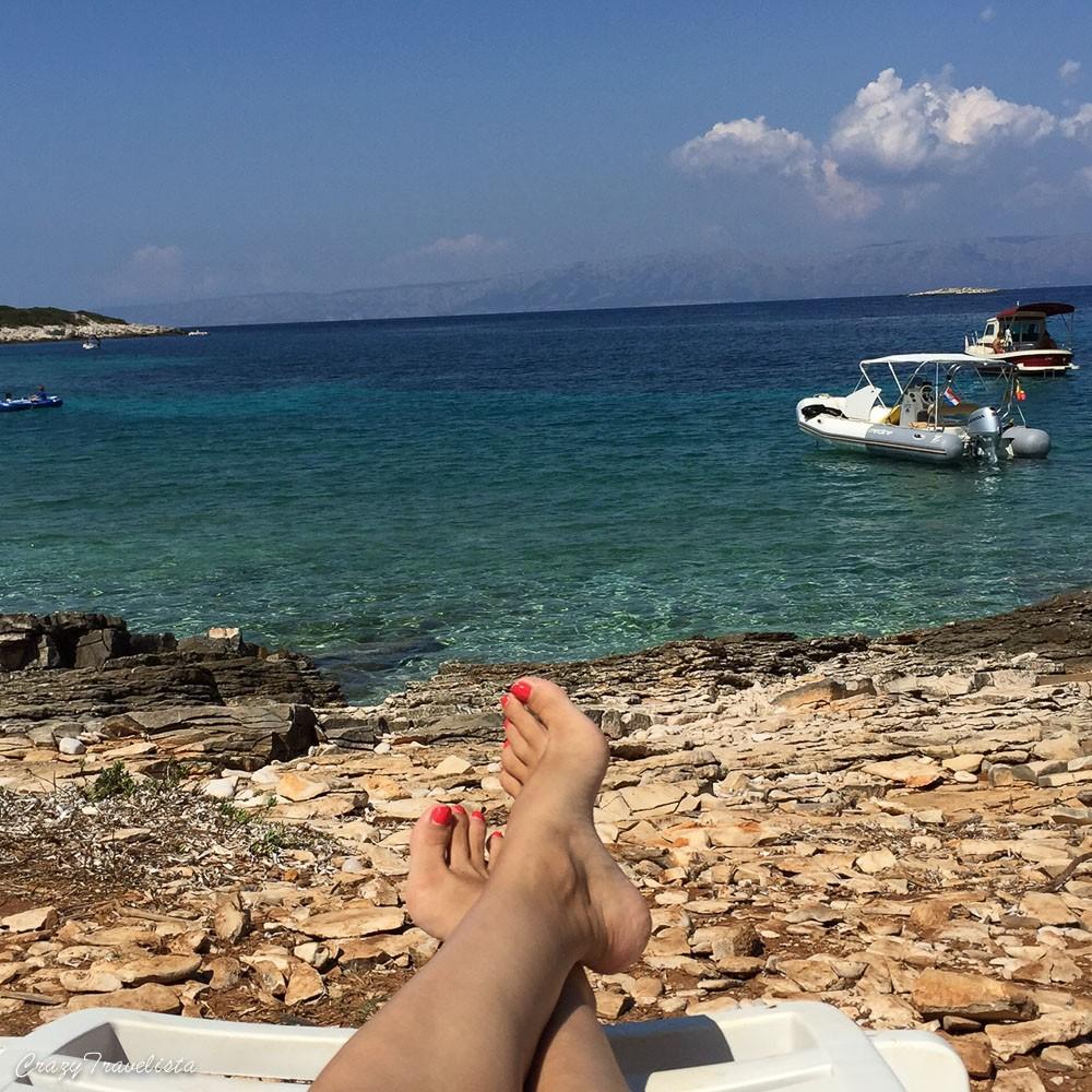 Relaxing in Proizd island, Croatia