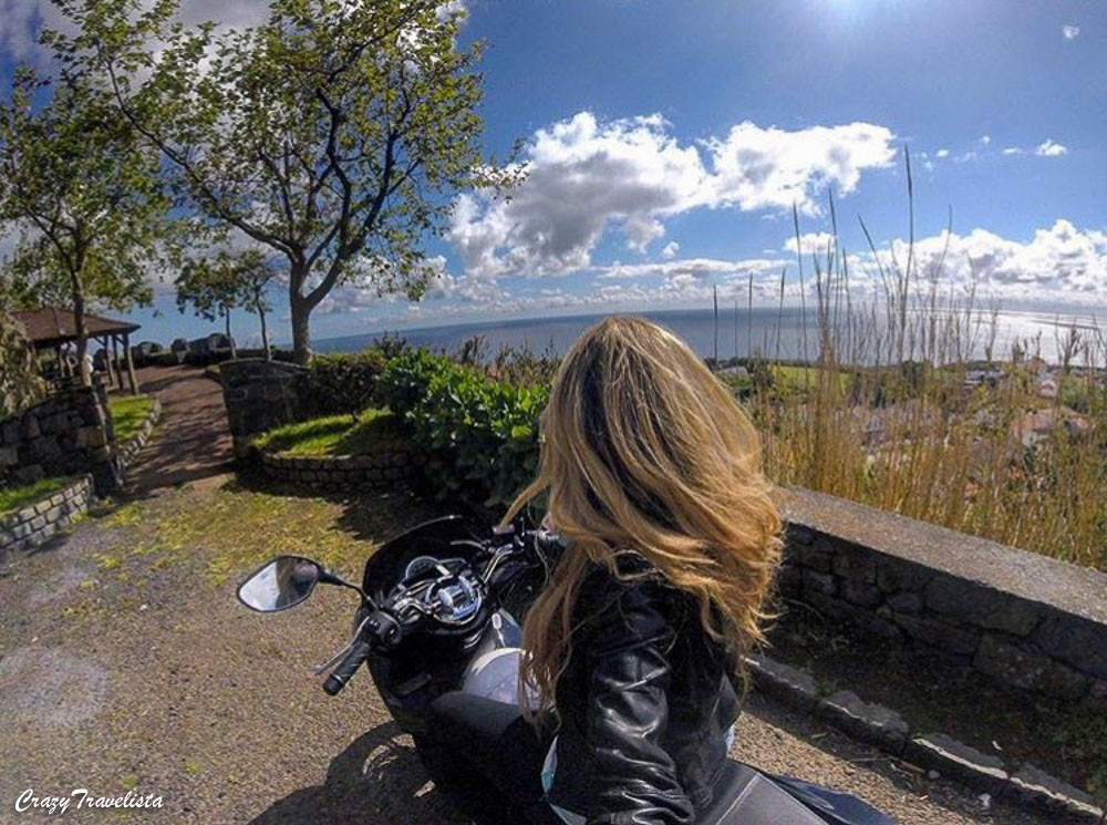 Scooter rental in Sao Miguel, Azores, GoPro