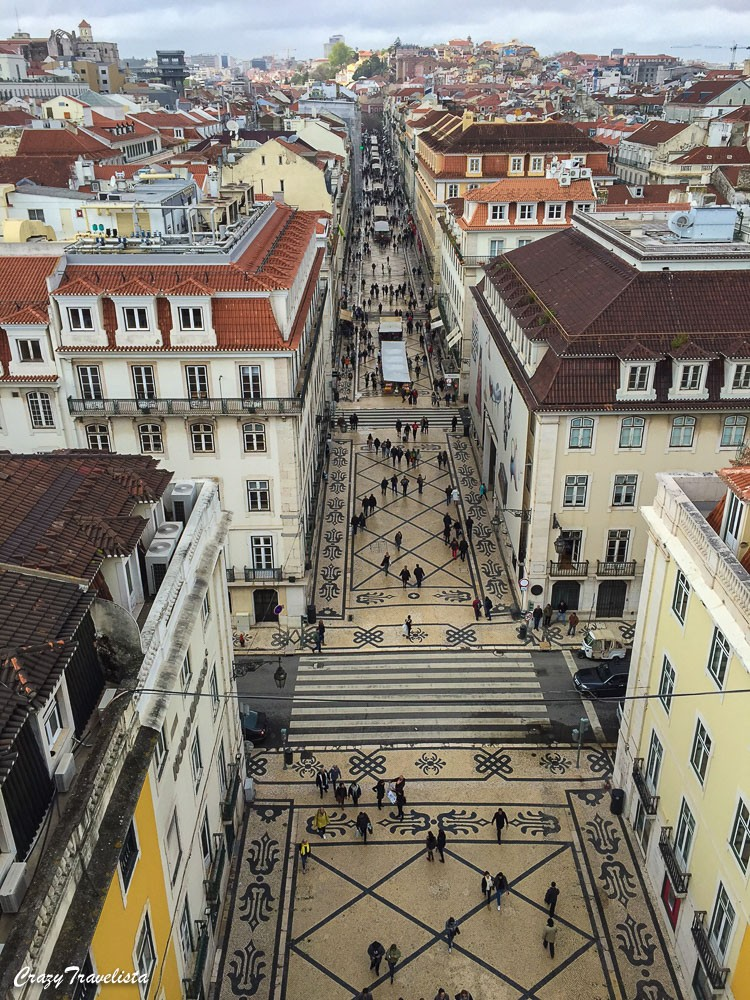 View from Rua Augusta Tower in Lisbon