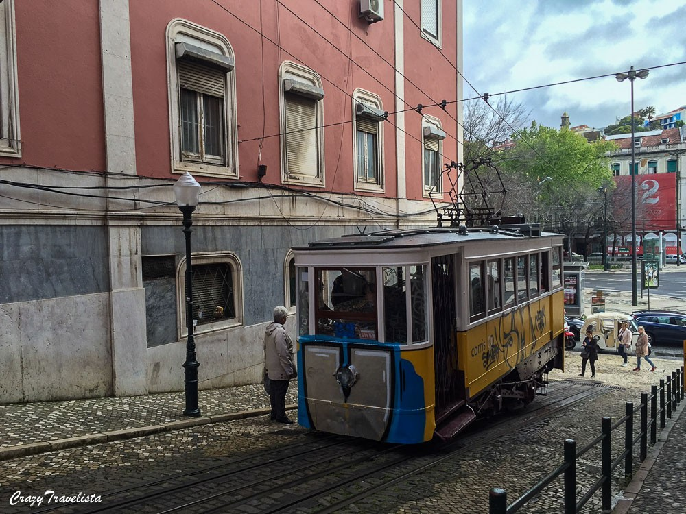 the infamous 28 Tram in Lisbon