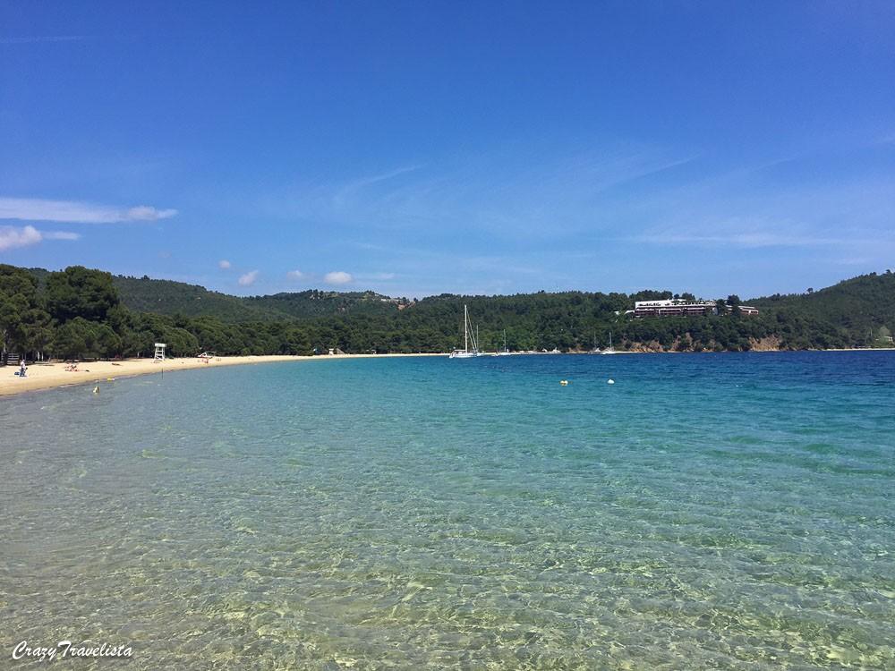 crystal clear Koukounaries beach