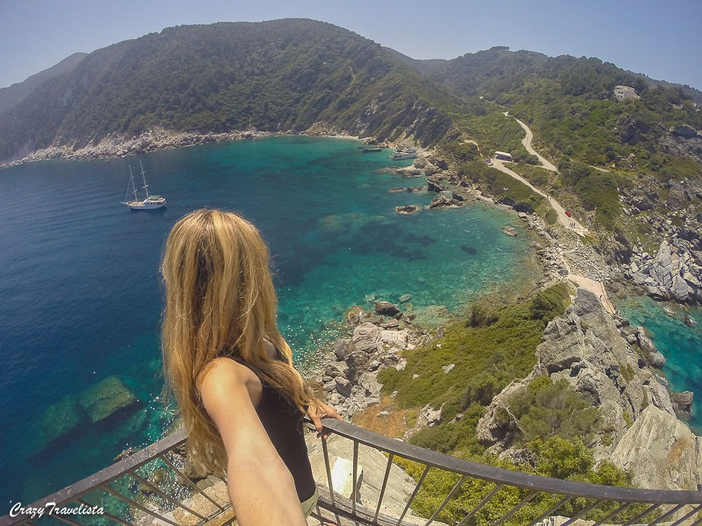 GoPro view from Mamma Mia church in Skopelos
