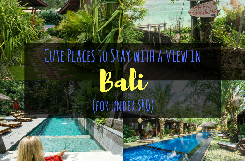 Cute Places to Stay in Bali with Amazing Views for Under $40/night (+ 1 Splurge!)