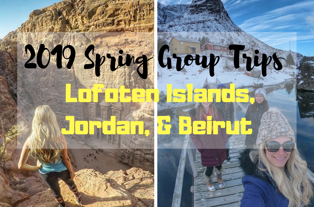 2019 Crazy Travelista Spring Group Trips: Lofoten Islands & Jordan (+ possible Beirut add-on)