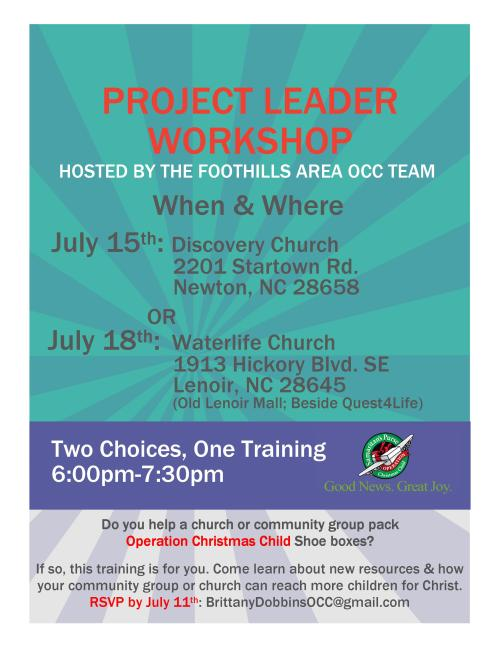 Catawba River Baptist Association | Churches partnering to reach