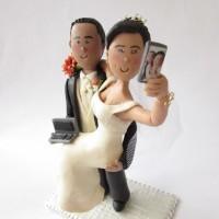 Muñecos  originales para  pastel de bodas