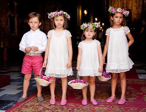 Como organizar el cortejo nupcial con niños