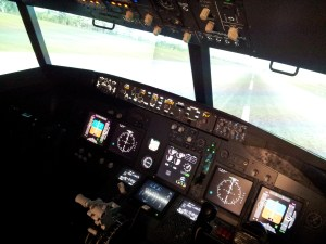 A quick photo of the cockpit of the 737-800 based simulator
