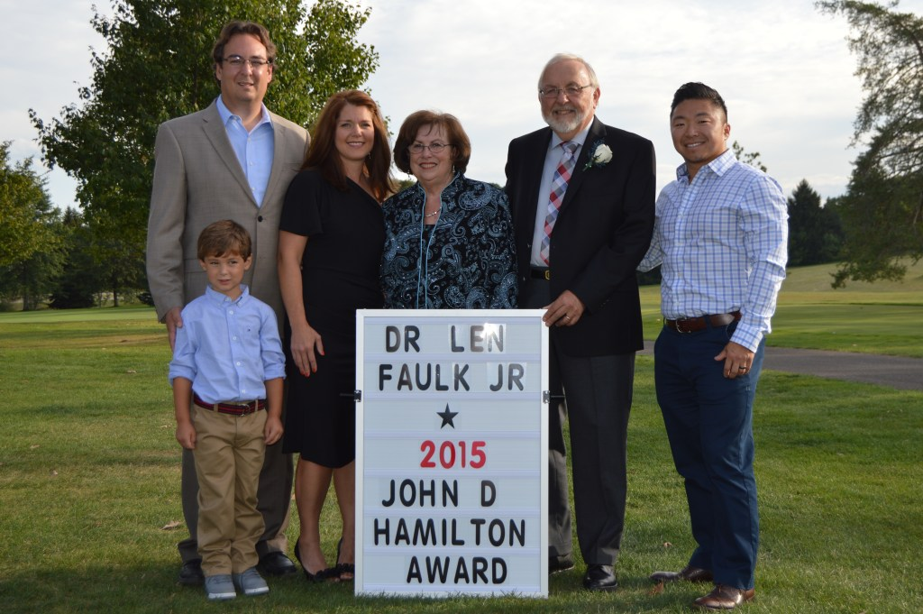 Faulk Family with Sign 2