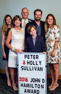 Peter and Holly Sullivan with Family at the John D. Hamilton Community Service Award Presentation Photo credit: Lee Stein