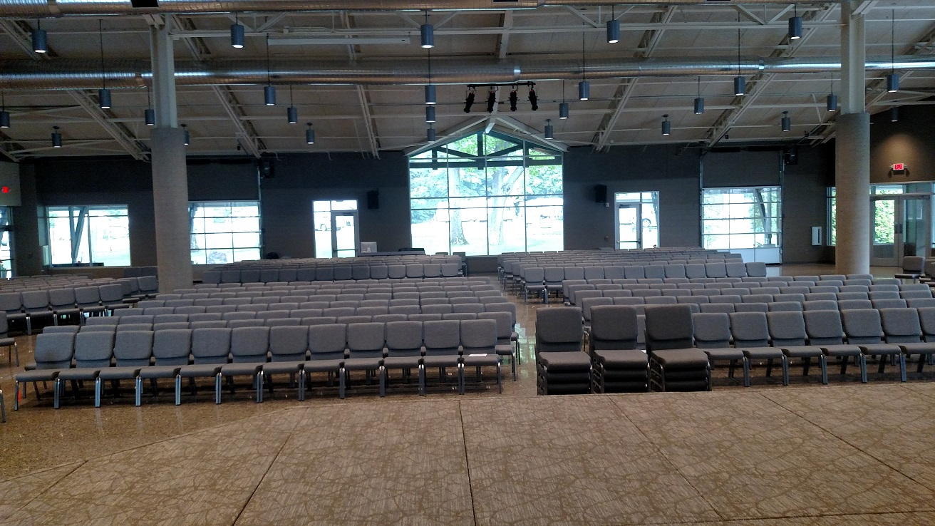 Seating in worship area
