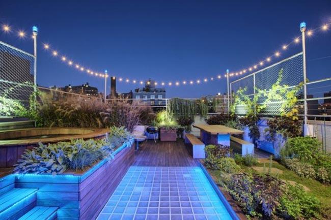 Jardins sur les toits de NewYork