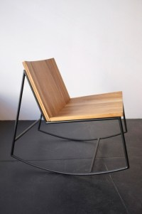 Rocking chair design mtal et bois