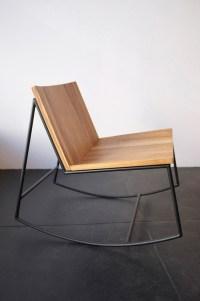 Rocking chair design mtal et bois