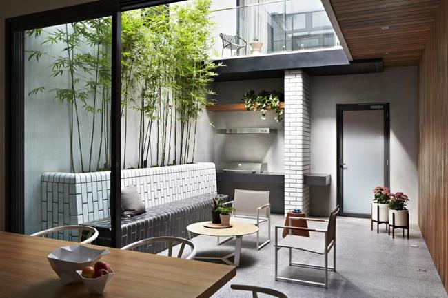 Maison avec patio  la dcoration minimaliste