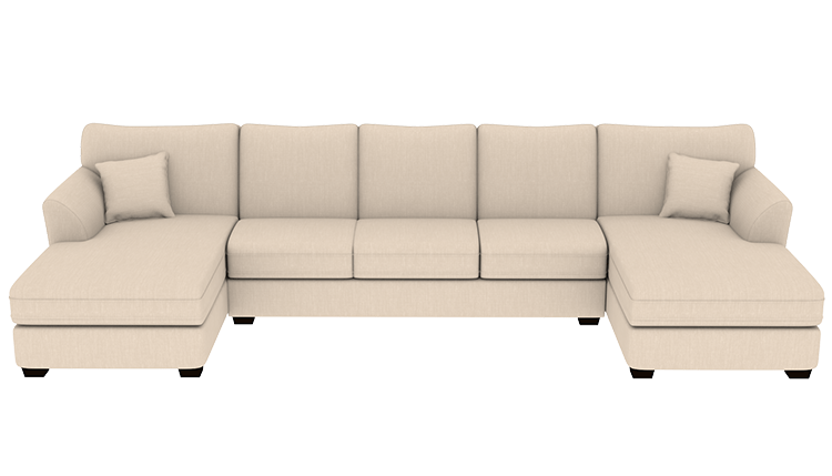 custom cooper double chaise sectional