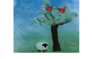 Felt Sheep Landscape Picture Kit-0