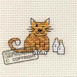 Tiddlers Cross Stitch Kits - Cat and Milk-0