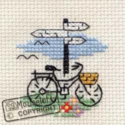 Stitchlets Cross Stitch Kits - Bicycle and Signpost-0