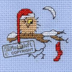 Christmas Cross Stitch Card Kit - Christmas Eve Owl-0