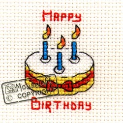 Occasions Cross Stitch Card Kit - Birthday Cake-0