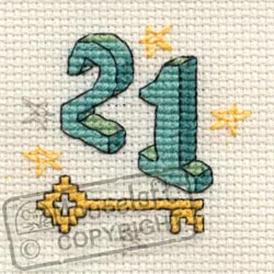 Occasions Cross Stitch Card Kit - Twenty One-0