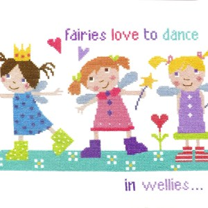 Fairies in Wellies Cross Stitch Picture Kit-0