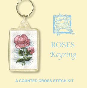 Cross Stitch Keyring Kits - Roses-0