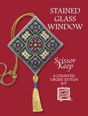Cross Stitch Scissor Keep - Stained Glass Window-0