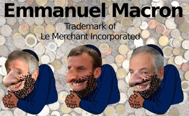Macron Meme as an Anti-Semitic Merchant