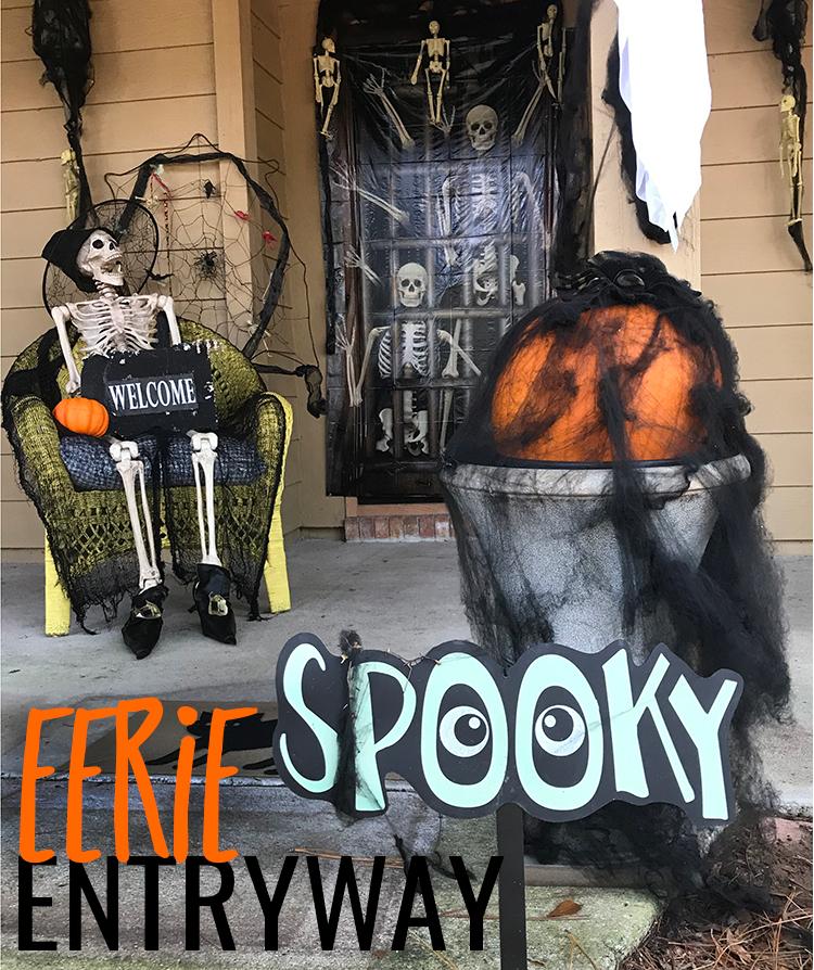 Eerie Entryway Decor for Halloween Eerie Entryway Decor