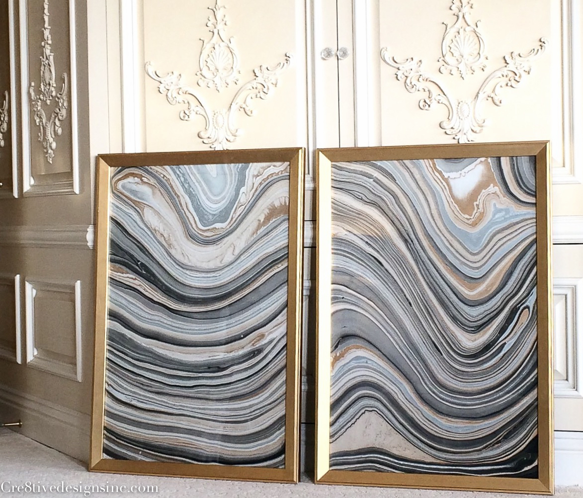 How to make marble artwork inexpensively