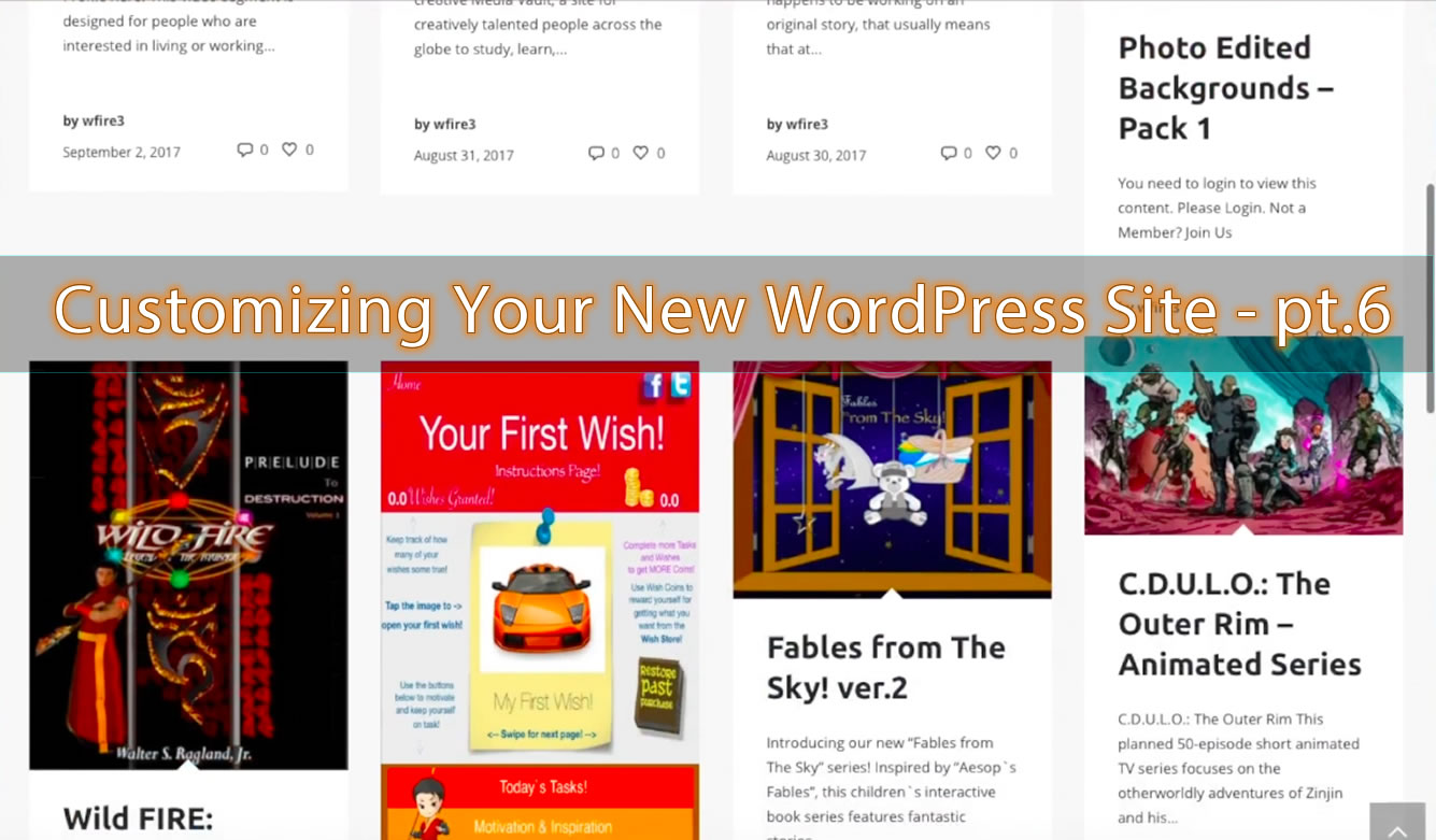 Creating a Static Front Page & Blog Page