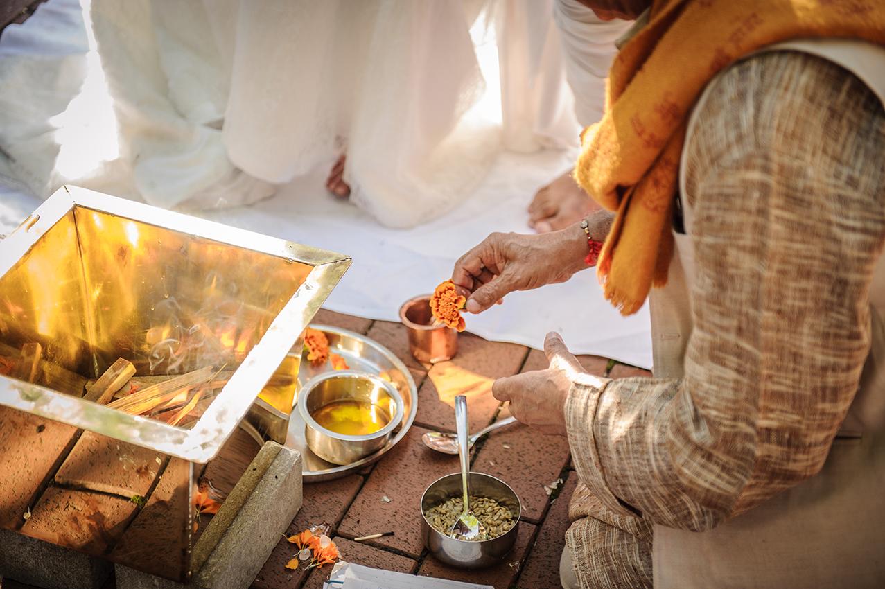 Heiraten im Hof zur Linde Mnster Freie indische Trauung