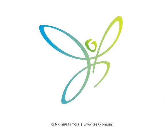 Знак благотворительной социальной программы «Легко дышать - легко жить» - в избранных клиентом цветах