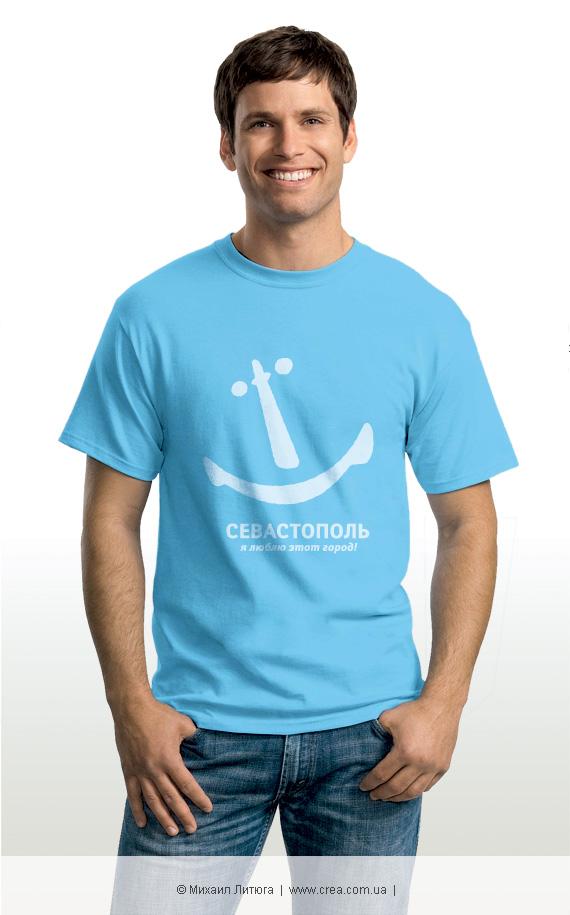 Дизайн футболки с альтернативным логотипом Севастополя © Михаил Литюга