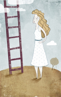 Ilustración escalera