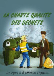 Communication BD: La charte qualité des déchets en Bande Dessinée