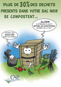 Communication BD: distribution de composteurs dans l'agglomération périgourdine