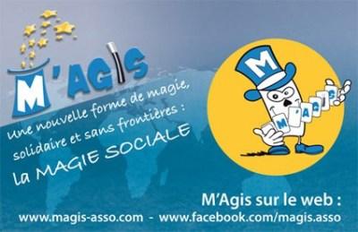 Création : carte de visite pour l'association M'Agis